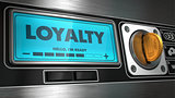 Loyalty on Display of Vending Machine.