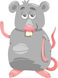 funny rat cartoon illustration