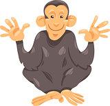 chimpanzee ape cartoon illustration