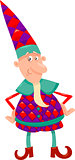 fantasy christmas elf cartoon