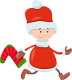 kid santa claus christmas cartoon