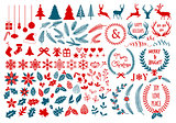 Christmas design elements, vector set