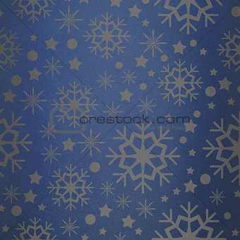 Composite image of snowflake pattern