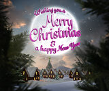 Composite image of merry christmas message