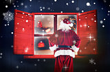 Composite image of santa claus