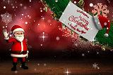 Cute cartoon santa claus