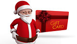 Composite image of cute cartoon santa claus