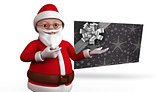 Composite image of cute cartoon santa claus
