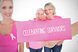 Composite image for breast cancer awareness
