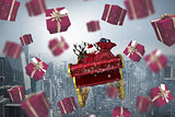 Composite image of red presents