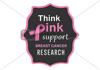 Breast cancer awareness message on poster