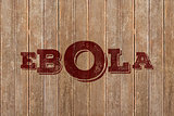 Composite image of red ebola text
