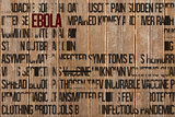Composite image of ebola word cluster