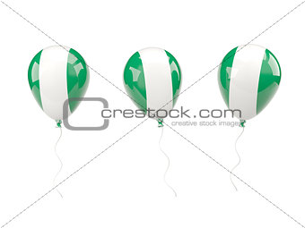 Air balloons with flag of nigeria