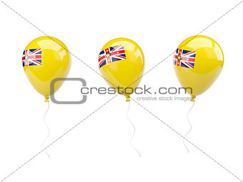 Air balloons with flag of niue