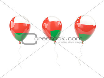 Air balloons with flag of oman
