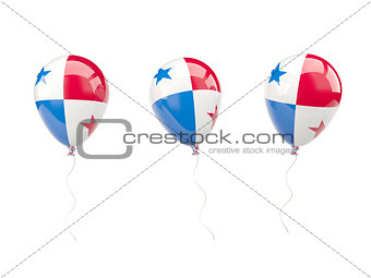 Air balloons with flag of panama