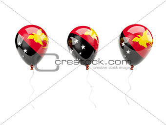 Air balloons with flag of papua new guinea
