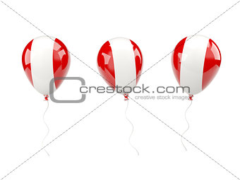 Air balloons with flag of peru