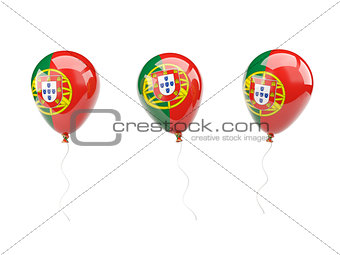 Air balloons with flag of portugal