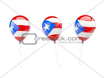 Air balloons with flag of puerto rico