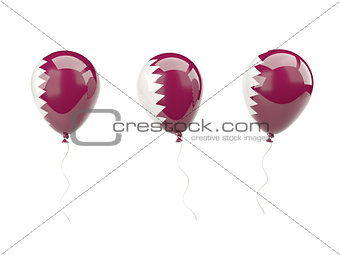 Air balloons with flag of qatar