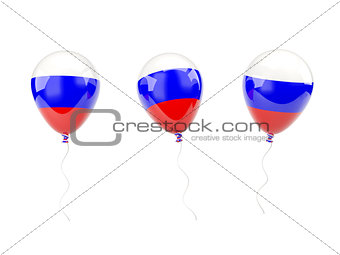 Air balloons with flag of russia