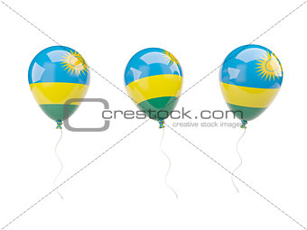 Air balloons with flag of rwanda