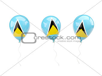 Air balloons with flag of saint lucia