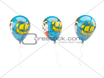Air balloons with flag of saint pierre