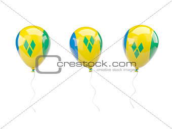 Air balloons with flag of saint vincent