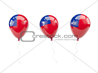 Air balloons with flag of samoa