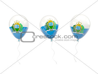 Air balloons with flag of san marino