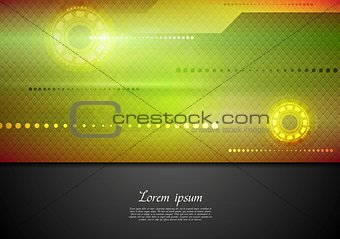 Abstract tech vibrant corporate background