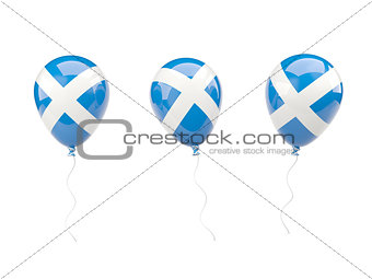 Air balloons with flag of scotland