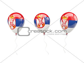 Air balloons with flag of serbia