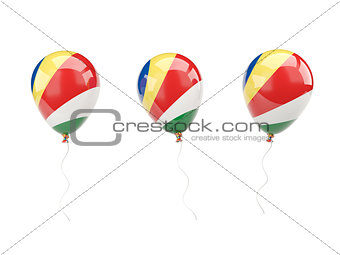 Air balloons with flag of seychelles