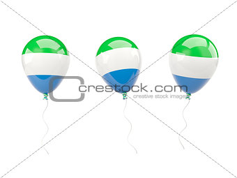 Air balloons with flag of sierra leone