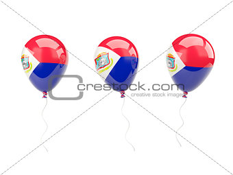 Air balloons with flag of sint maarten