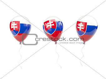 Air balloons with flag of slovakia