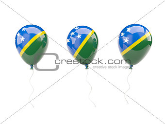 Air balloons with flag of solomon islands