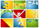 Colorful bright technology backgrounds set
