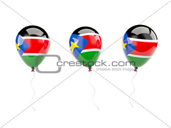 Air balloons with flag of south sudan