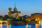 Notre Dame de Paris at the summer night