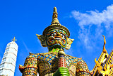 Guardian Statue at Wat Phra Kaew Grand Palace Bangkok
