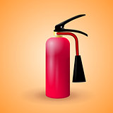 Vector illustration of red fire extinguisher