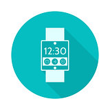 Flat vector icon for smart watch