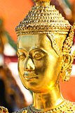 Golden kinnara statue in Grand palace Bangkok,Thailand.