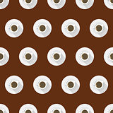 Flat vector background for coffee cup