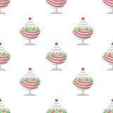 Vector background for ice cream dessert